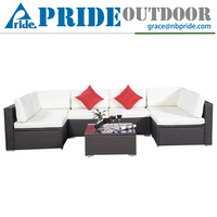 U Type Leisure Indoor Rattan Plastic Sectional Sofa Muebles De Jardin Vietnam Cebu Rattan Furniture