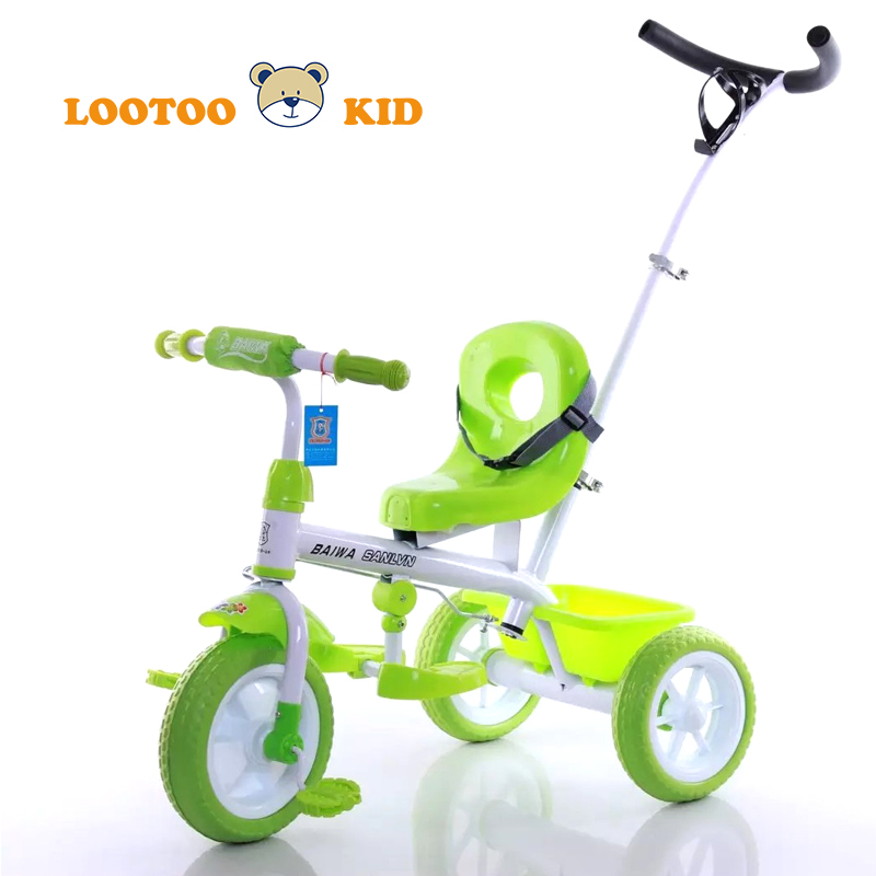 Alibaba China factory hot sale cheap price 3 wheel toddler push bike with handle