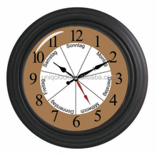 "12"" Week Plastic Wall Clock for home decor or gift"