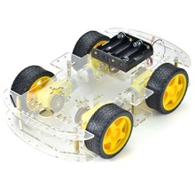 Alibaba Hot Selling 4WD drive Smart Robot Car Chassis Kits with Speed Encoder for Smart Robot Car Chassis
