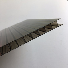 4mm/6mm/8mm/10mm/12mm colored double layer hollow polycarbonate sun sheet for greenhouse