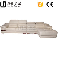 China Supplier Modern White Large Half Round Leather Sofa For Back Rest