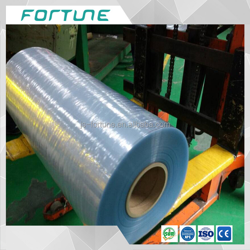 Anti-static fire-retardent clear pvc film