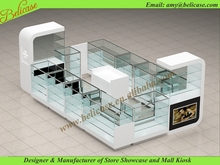 Perfume display counter and cosmetic showcase kiosk
