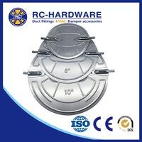 Galvanized round air duct volume control HVAC damper blade
