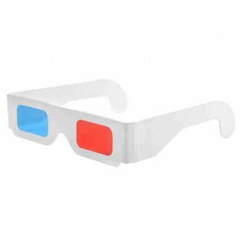 Custom Anaglyph 3D Paper Glasses / Red Cyan Glasses / Red Blue Glasses