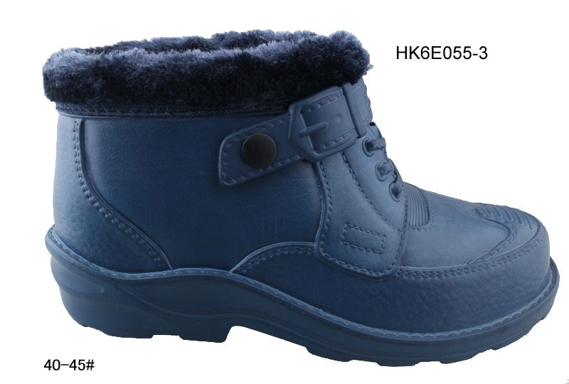 Men winter eva clogs half boots with warm cotton and fur