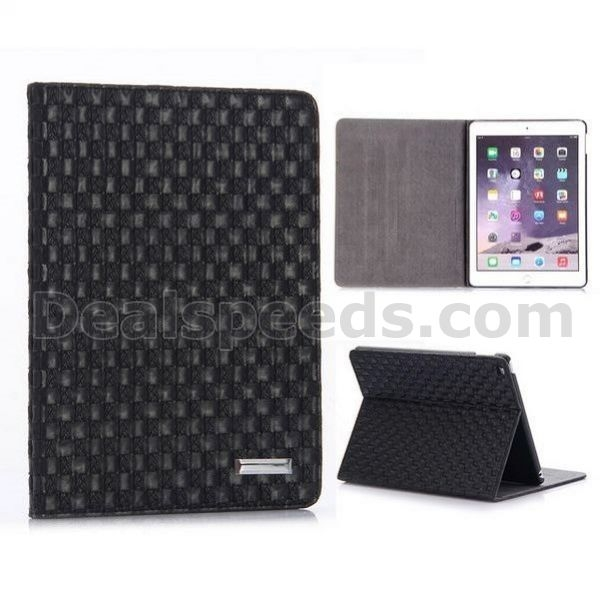 Woven Texture Pattern PC+PU Leather Case for iPad Mini 1/2/3