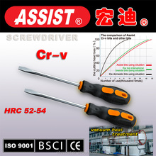 ASSIST screwdriver PP handle with CRV material PHILLIPS SLOTTED screwdriver