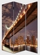 3 pieces Brooklyn Bridge screens privacy canvas screens with LED lights