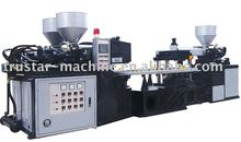 PVC three color plastic sole injection molding machinery