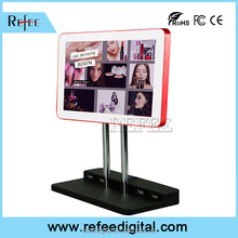 solar power advertising display with led light