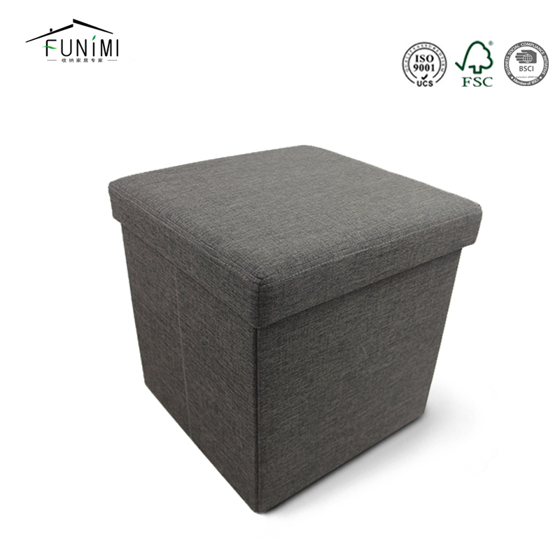 Cabinet Furniture Dice Design Ottoman Storage Stool Black Folding Chair