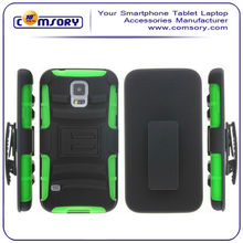 Shell Holster Combo Protective Case with Kick-Stand Belt Clip for Samsung Galaxy S5 i9600