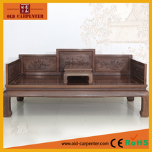 Antique chinese luxury wooden arhat bed