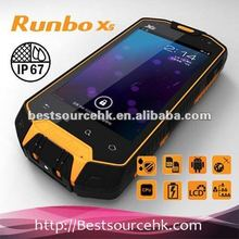 Manufacture Runbo X5 World's First Military Level IP67 Waterproof cell Phone with Walkie-Talky