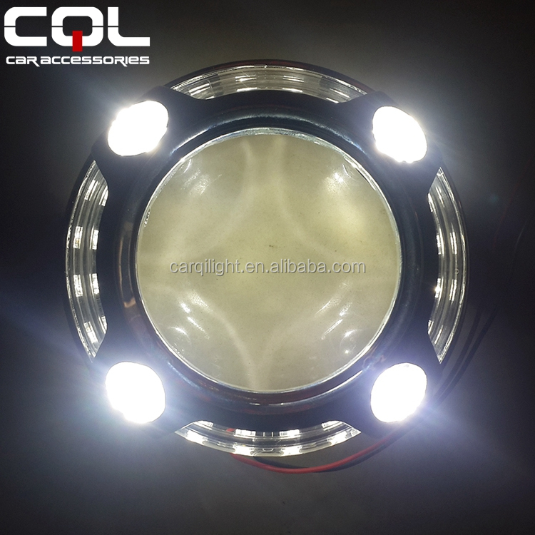 3.0 inch panamera led angel eye hid bi xenon projector lens shrouds for King Kong LED shrouds for D2S Q5 projector