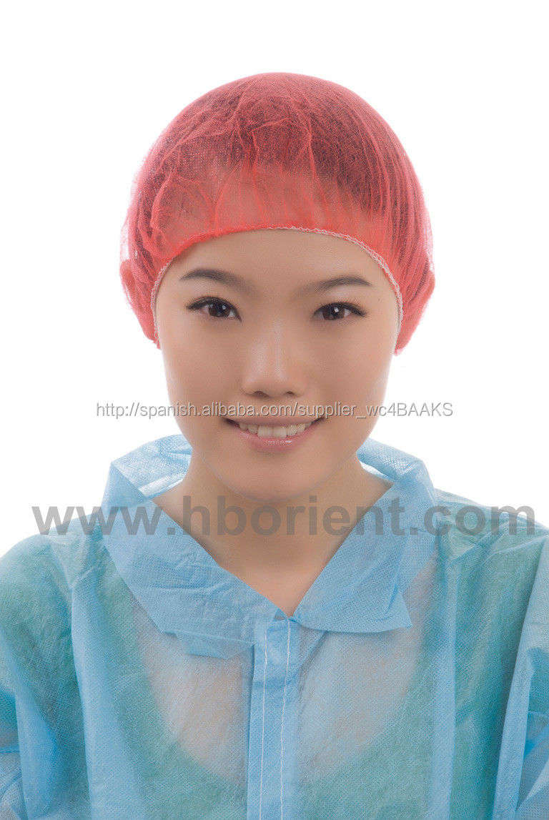 Disposable nonwoven surgical bouffant hair cap