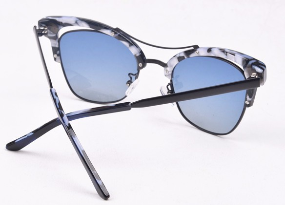 China sunglass manufacturers plastic metal glasses sunglass with TAC polarized mirror lens