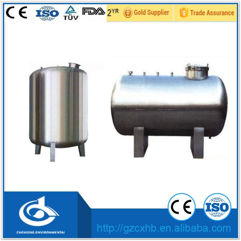 All sizes stainless steel water pressure storage tank/ water container factory price with high quality