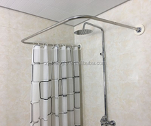 Wholesale lastest design china cheap high quality U type stainless steel shower curtain pole