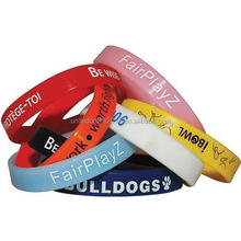 Promotional gifts cheap price silicone rubber bracelet printing your logo advertising silicone wristbands