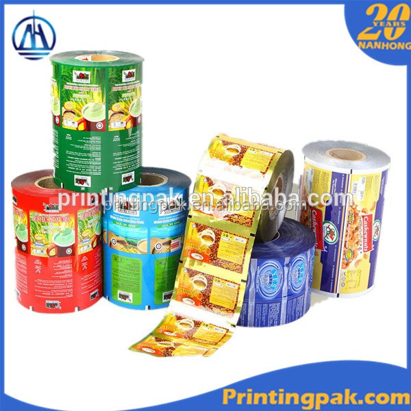 Coffee Laminated Packaging Film In Rolls , Multilayer Packaging Film Width 900mm