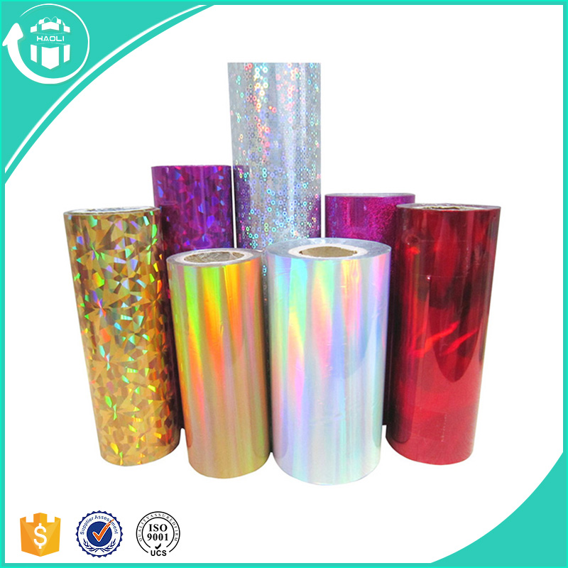 Discount PVC Colorful Christmas Gift Wrapping Holographic Film