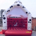 Dog inflatable bouncer/white bounce house