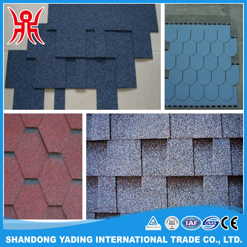 Laminated 3 tab bitumen shingle, construction material