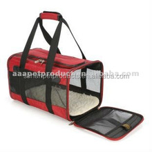 Red and Black Dog Pet Carrier ,Animal premium airline approved expandable pet carrier