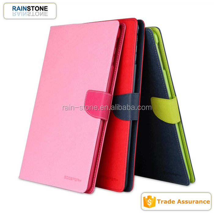 New 2015 colorful PU leather cute cover case for iPad mini 4 flip tablet case