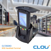CLOU CL7202K3 Android 5.1 industrial IP 65 passsive rfid terminal with Impinj R2000 chip and barcode scanner