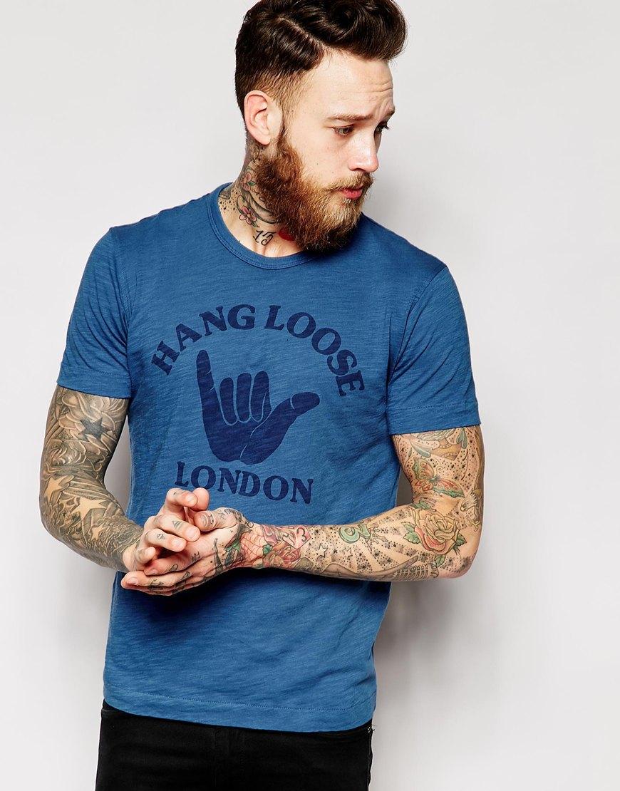 T Shirt With Hang Loose London Print Clothing