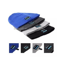 Microphone bluetooth music hat with stereo headset speaker