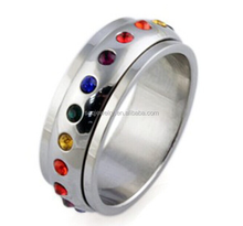 China Alibaba Enamel Stainless Steel Ring for Women Fashion Designs Jewelry