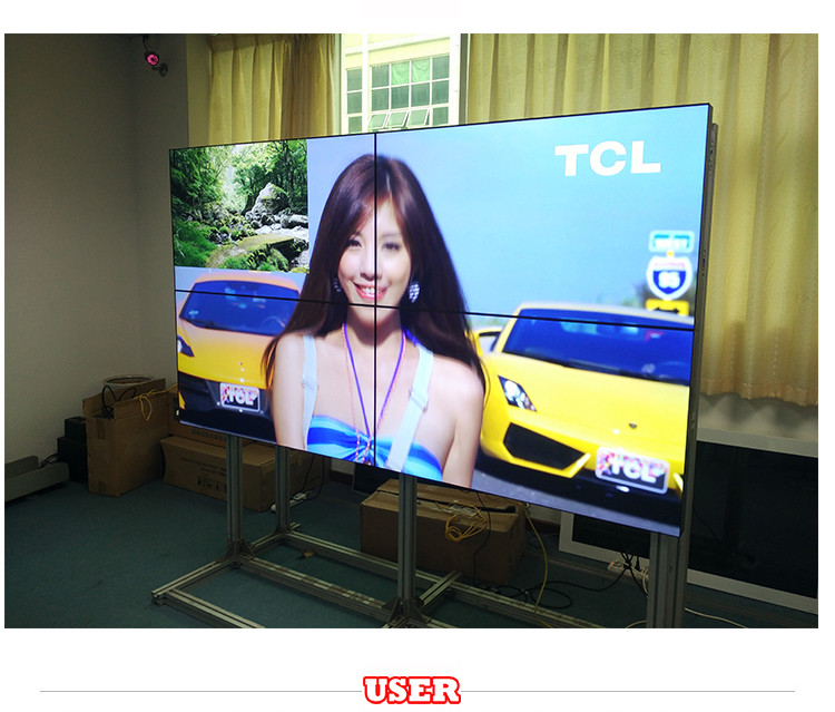 46 inch 2*2 Full HD Narrow Bezel TV Wall 3.5mm LCD Video Wall