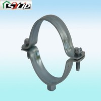thickness 1.5mm 87mm-166mm rubber steel High Quality Rubber Liner Split Pipe Clamp