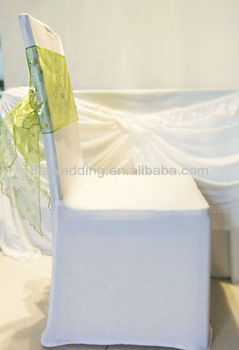 fashion organza spandex wedding chair sashes for sale for wedding and hotel decoration