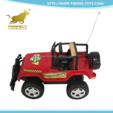 Guangdong new 1:14 4 channel plastic body rc stunt jeep car for kids