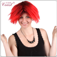 cheap red and black highlight short hair wig