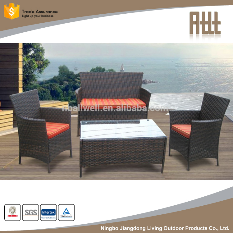 Classic resin wicker garden furniture rattan cane furniture sofa set AWRF6114,Cane furniture sofa