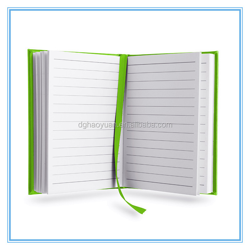 a5 leather hardcover notebook with elastic strap and ribbon bookmark,also can custom LOGO