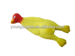 chicken shape latex toy for dogs