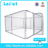 10x10x6 foot low price outdoor strong stainless steel dog kennels/dog house factory