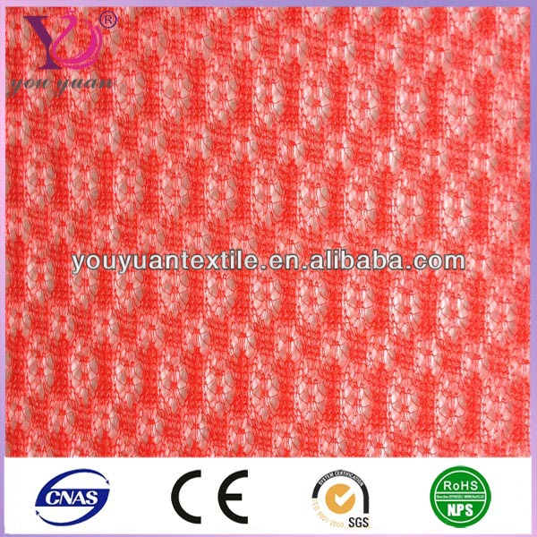 Plain Warp Knitted Polyester nylon Diamond mesh fabric for garments gifts bag
