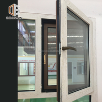 2018 hot sell swing Window With Wood Grain Color Finishing Thermal Break Aluminum 24 x 48 casement window with Security Screen