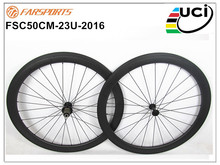 Durable carbon clincher wheels ! 700C 50mm road wheelsets for bicycle 50mm deep 23mm wide aero U shape 4 degree basalt brake