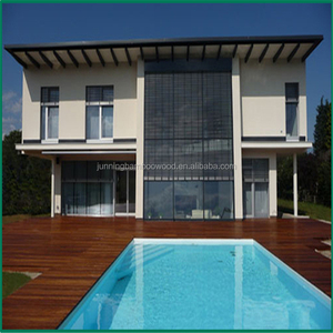 Outside swimming pool bamboo parquet outdoor decking