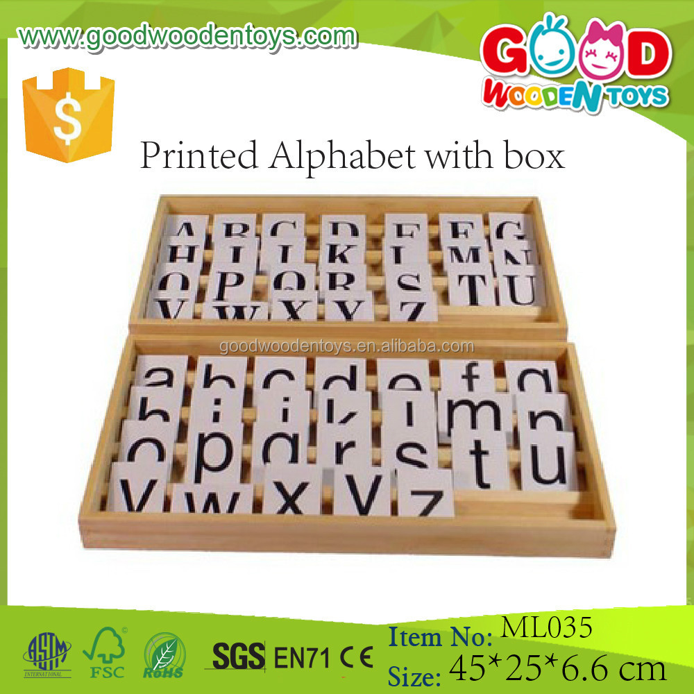 Language Learning Toys : Montessori language learning toys alphabet letter printed